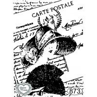 Carimbo Dama Carte Postale - 7x5cm - Ref..