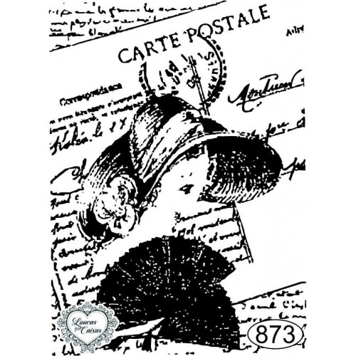 Carimbo Dama Carte Postale - 7x5cm - Ref. 873