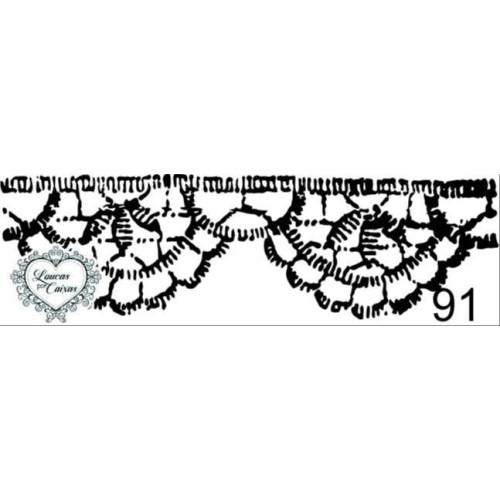 Carimbo Renda Ref 91 - 5.5 X 1.7