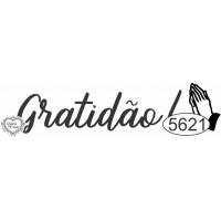 Carimbo Gratidão Ref. 5621 - 6 X 1,5 Cm..