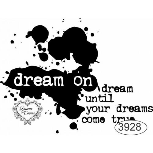 Carimbo Dream On - 7X5,5Cm - Ref. 3928