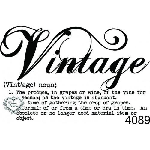 Carimbo Vintage Significado - 6,5X4Cm - Ref. 4089