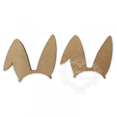 Orelhinhas de Coelho - 2 unid - em MDF 3mm - M