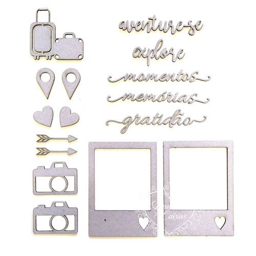 Kit Aventure-se - Chipboard