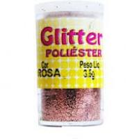 Glitter Poliéster Gliart 3,5g - Rosa..
