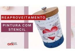 REAPROVEITAMENTO DE LATA C/ STENCIL CORAÇÃO