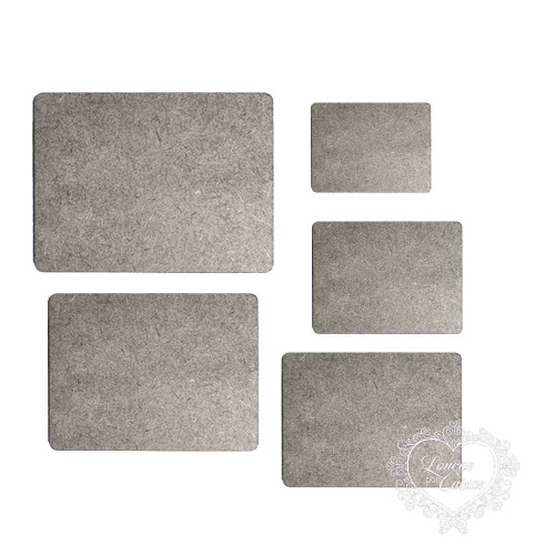Kit Placas Retangulares Mdf- 5 Tamanhos - Chipboard