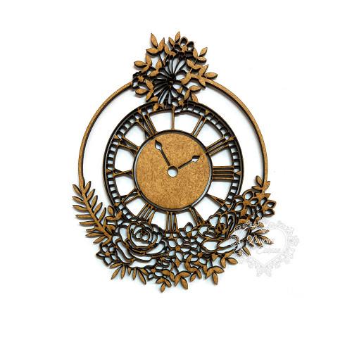 Relógio Com Flores - G