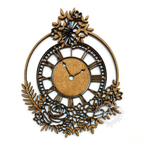 Relógio Com Flores - Xg
