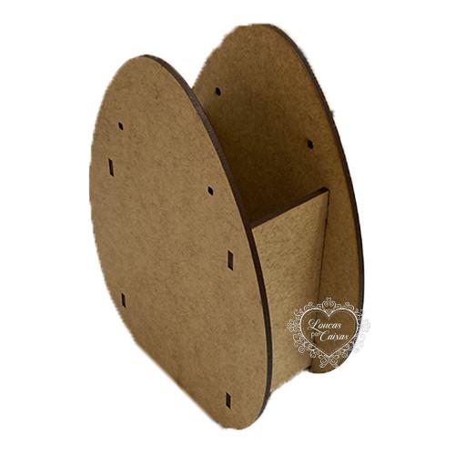 Caixote Ovo - em MDF 3mm - desmontado - 14 x 17,5 x 5,5 cm