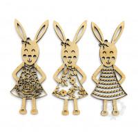 Coelhas rendadas - kit com 3 modelos..