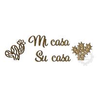 Frase Mi Casa Su Casa + Cactos - M..