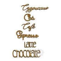 Kit palavras diversas tema café e chá - ..