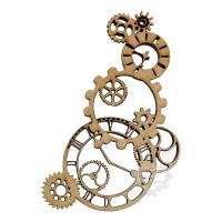 Relógios E Engrenagens em MDF - G..