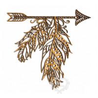 Flecha com penas tribal g..