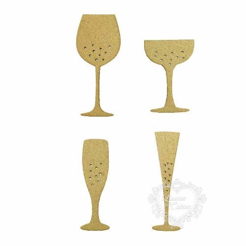 Taças De Drinks - 4 Unid - MDF