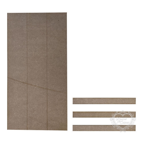Placa imitação pallet 45x23 cm com imitações de ripas - 6mm