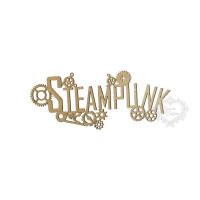 Aplique Palavra Steampunk - P - Em MDF ..
