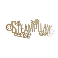 Aplique Palavra Steampunk - M - Em MDF..