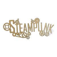 Aplique Palavra Steampunk - G - Em MDF ..