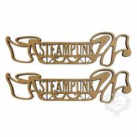 Aplique Steampunk Faixa - M - em MDF ..