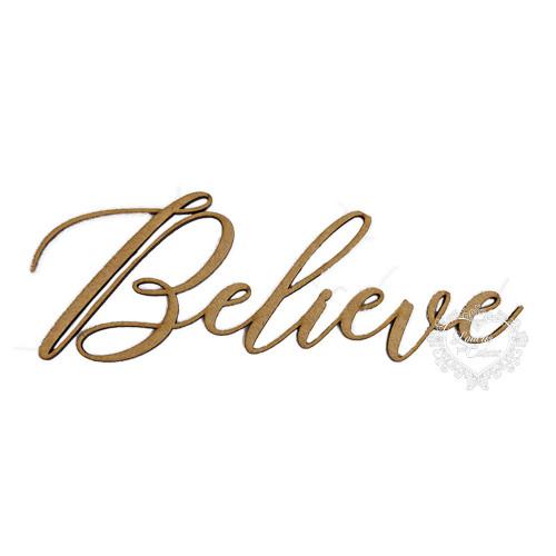 Aplique Believe - G - em MDF