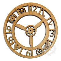 Aplique Relógio com Engrenagens 2 - M - ..