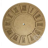 Placa para Relógio com números Romanos e..