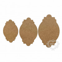 Kit Placas Trabalhadas - 3 tamanhos - em..