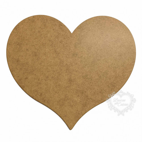 Coração em MDF - 21x18,5cm