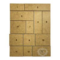 Jogo de 13 Plaquinhas retangulares - MDF..
