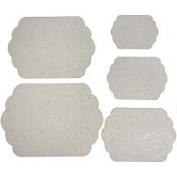 Conjunto De 5 Placas Retangulares - Chip..