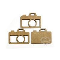 Aplique em MDF - Shaker Box Câmera Foto..