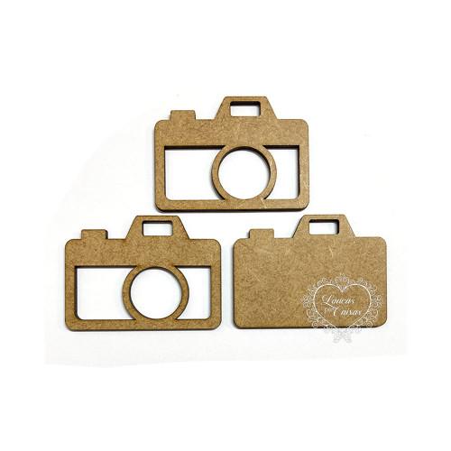 Aplique em MDF - Shaker Box Câmera Fotográfica - P