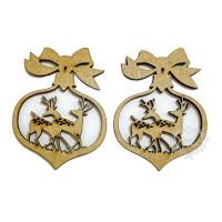 Bola de Natal - Cervos I - 2 unidades - ..