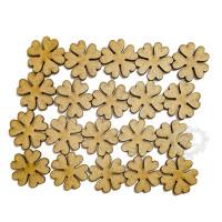 Kit mini flores - 20 unidades - 2cm - em..