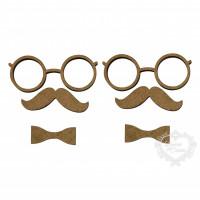 Óculos, Bigode E Gravata - 2 Unidades - ..