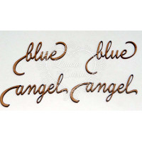 Angel blue - mdf - 4 un..