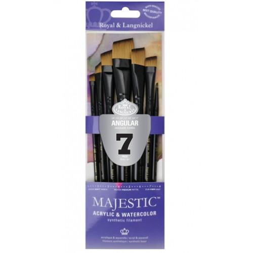 Kit Majestic Angular com 7 pincéis chanfrados