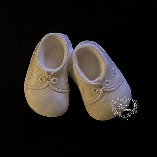 Resina Aplique Par de Sapatos Infantil 8x10 cm