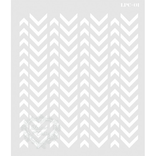 Stencil Geométrico Setas - 20x17cm - Ref. 01