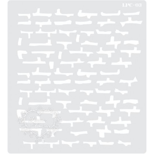 Stencil Muro de Tijolos - 20x18cm - Ref. 03