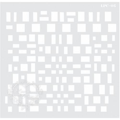 Stencil Estampa Retângulos - 20,5x20 - Ref. 06