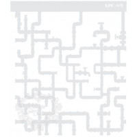 Stencil Negativo Canos - 20x17cm - Ref. ..