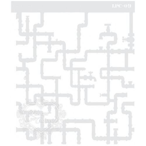 Stencil Negativo Canos - 20x17cm - Ref. 09