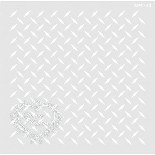Stencil Fundo Metal - 22x22,5cm - Ref. 13