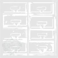 Stencil Gavetas Desgastadas - 23x23cm -R..