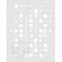 Stencil Pontos e Ligações - 20x15,5cm - ..