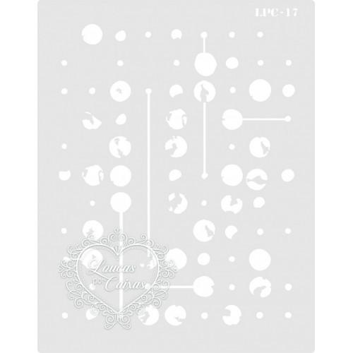 Stencil Pontos e Ligações - 20x15,5cm - Ref. 17