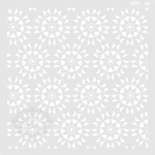 Stencil Estamparia Mandalas - 25x25cm - Ref. 18